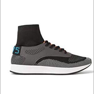 Zara men grey high top sneakers
